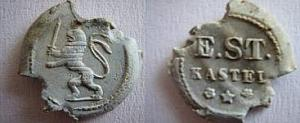 German, Railway, E.ST CASTEL Lion Seal
